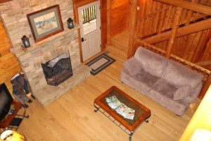 Fireplace from above